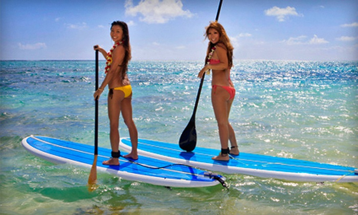 Toronto Adventures Inc - West Queen West: $24.99 for a Stand-Up-Paddleboarding Lesson and Rental from Toronto Adventures Inc (a $49.95 Value)