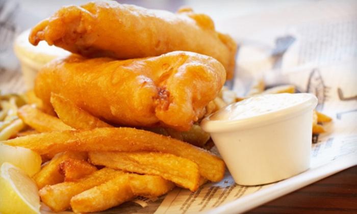 Sandbar Waterfront Grill - Lakeshore: $20 for $40 Worth of Pub Food and Drinks at Sandbar Waterfront Grill