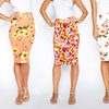 2-Pack Women's Floral Printed Pencil Skirts