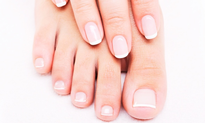Hair Play Salon & Spa - Morningside Heights: One Basic Pedicure, or One or Two Basic Mani-Pedis at Hair Play Salon & Spa (Up to 63% Off)