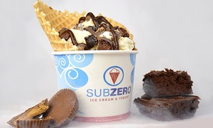Subzero Ice Cream & Yogurt: $6 for $10 Worth of Ice Cream at Subzero Ice Cream & Yogurt