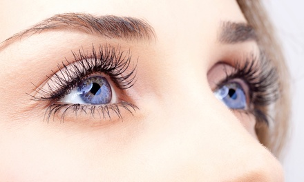 Natural, Glamour, or Dramatic Look Eyelash Extensions at Red and White Spa (Up to 61% Off)