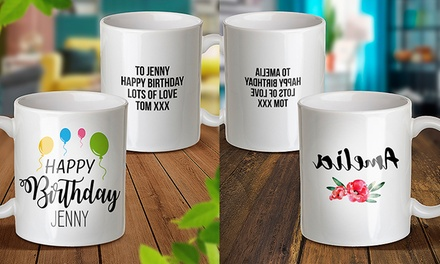 Personalised Designer Mugs: One ($9.99), Two ($18.99) or Three ($26.99) (Don't Pay Up To $89.97)