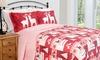 3-Pc. Christmas Lodge Quilt Set: 3-Piece Christmas Lodge Quilt Set