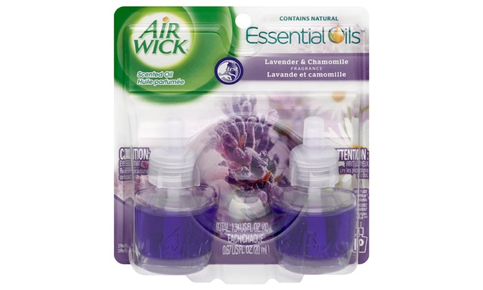 Air Wick Scented Oil Refills (6-Pack): Air Wick Scented Oil Refills in Lavender and Chamomile Scent; 6-Pack of Twin Refills + 5% Back in Groupon Bucks