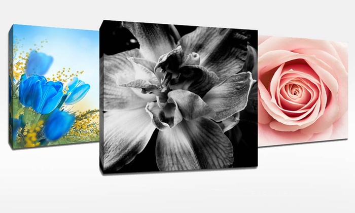 "20""x20"" Spring Flowers Art on Canvas: 20""x20"" Spring Flowers Art on Canvas. Multiple Artworks Available. Free Returns."