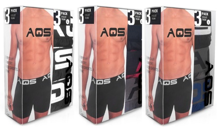 3-Pack of AQS Boxer Briefs for Men (Shipping Included)