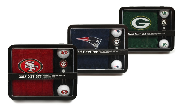 nfl 4 piece golf gift set groupon goods. Black Bedroom Furniture Sets. Home Design Ideas