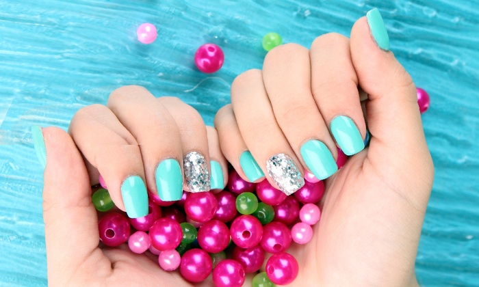 Shellac Manicure or Basic Manicure with Option for Designs at The Nail