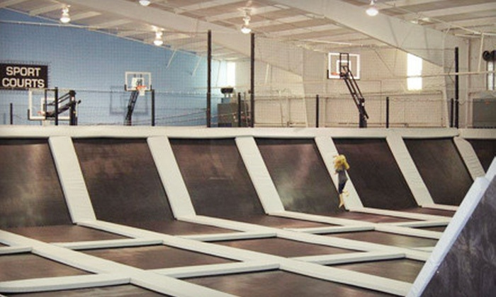 Elevation Trampoline Park - Northwest Oklahoma City: One- or Two-Hour Jump Session for Two, or Five One-Hour Jump Sessions at Elevation Trampoline Park (Up to 51% Off)