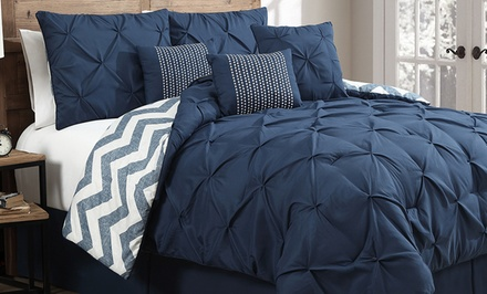 7-Piece Pinch Pleat Reversible Comforter Sets Available from $69.99—$79.99