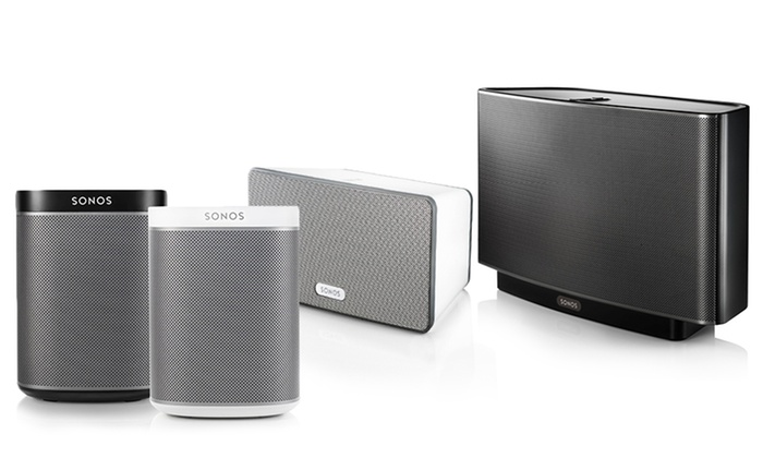 sonos play wireless speakers or sound bar groupon. Black Bedroom Furniture Sets. Home Design Ideas