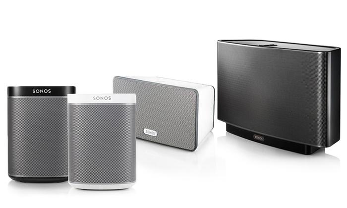 sonos play wireless speakers or sound bar groupon. Black Bedroom Furniture Sets. Home Design Ideas