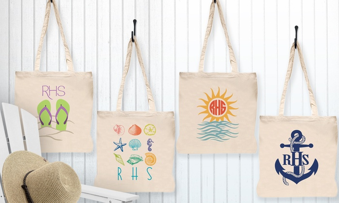 Monogram Online: $5 for a Personalized Beach Tote from Monogram Online  ($26.99 Value)