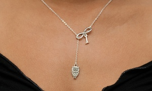Monogramhub.com: $5 for a Personalized Lariat Owl Infinity Necklace from Monogramhub.com ($49.99 Value)