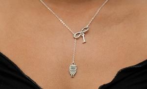 Monogramhub.com: $5 for a Personalized Lariat Owl Infinity Necklace from Monogramhub.com ($49.99 Value)