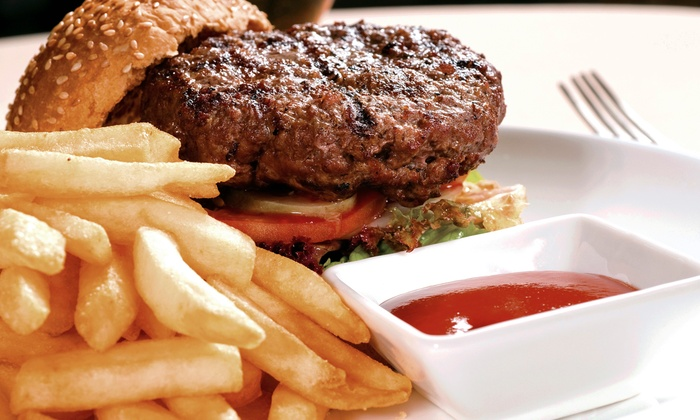 Black Bear Saloon - White Plains: Customizable Burgers and Beers for Two or Four at Black Bear Saloon (Up to 52% Off)