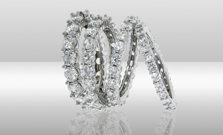 Cubic Zirconia Eternity Wedding Band. Multiple Designs from $13.99–$18.99.