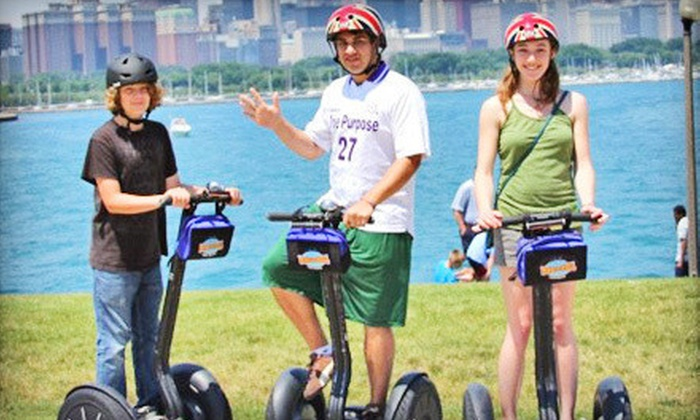 Bike and Roll Chicago - Millennium Park: $69 for a Two- to Three-Hour Sunset Segway Tour for Two from Bike and Roll Chicago (Up to $138 Value)