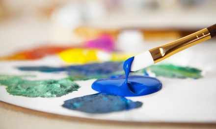 Freestyle Painting Session and Pizza for Two or Four at PaintBar (Up to 51% Off)