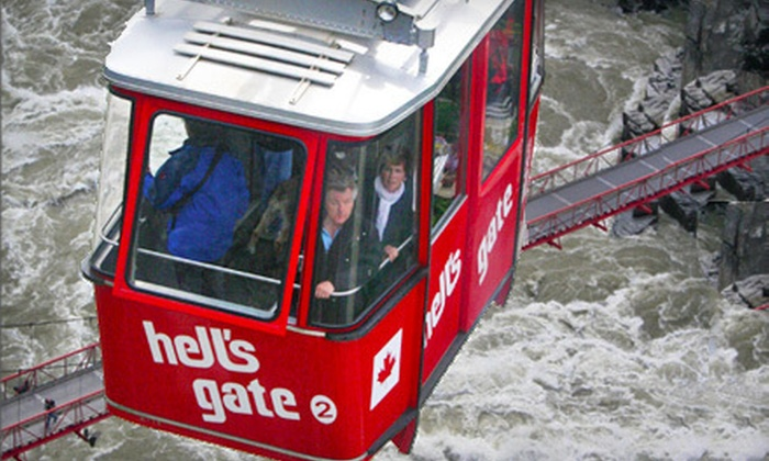 Hell's Gate Airtram - Boston Bar: Aerial Tram Ride Over Fraser Canyon and Fudge for Two or Four at Hell's Gate Airtram (Up to 54% Off)
