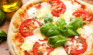 """Bella Pizza: Bella Pizza: Two 10"""" (£10) or 12"""" (£12) Pizzas"""