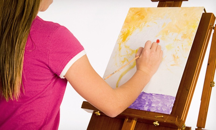 Art with a Twist - Downtown: One or Four Children's Painting Classes at Art with a Twist (Up to 51% Off)