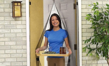 Instant Open-and-Close Magnetic Screen Door