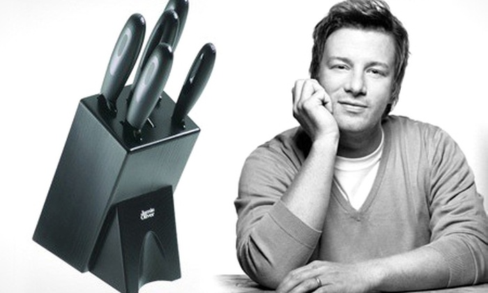 jamie oliver six piece knife set groupon goods. Black Bedroom Furniture Sets. Home Design Ideas