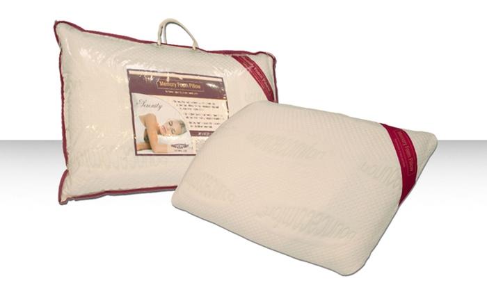 "Serenity 16""x28"" Memory-Foam Pillow: Serenity 16""x28"" Memory-Foam Pillow"