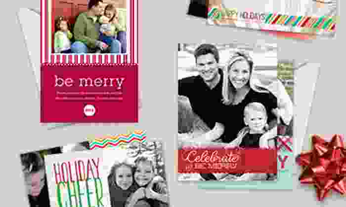 Custom Holiday Cards: 40, 70, or 100 Custom Flat Holiday Cards from Picaboo (Up to 61% Off). Free Shipping.