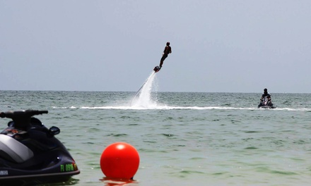 30-Minute Flyboarding Session for One or Two Jump Right In Flyboarding (Up to 55% Off). Two Locations Available.