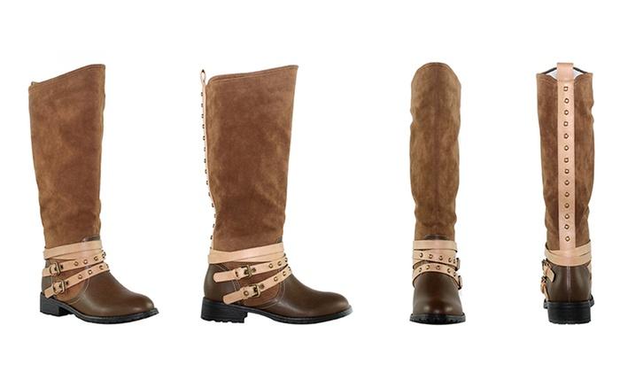 Olivia Miller Rivington Knee-High Slip-On Riding Boots: Olivia Miller Rivington Knee-High Slip-On Riding Boots