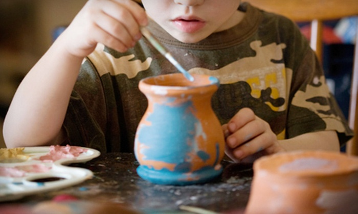Firefly Pottery Studio - Tallahssee: Kids' Pottery-Painting for One or Two or Adult Glass-Fusing Class at Firefly Pottery Studio (Up to 56% Off)