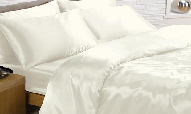 Parure de lit 6 pi ces pour lits taille et coloris au for Taille housse de couette pour lit 160