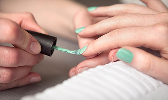 Color My Nails Salon - Midvale: Shellac Manicure or Spa Mani-Pedi at Color My Nails (Up to 55% Off)