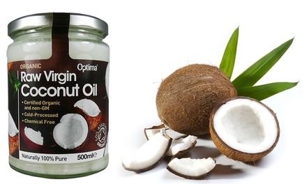 Optima One or Two Jars of 500ml Organic Raw Virgin Coconut Oil