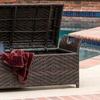 Wicker Outdoor Storage Bench
