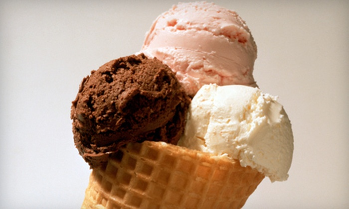 Polar Palace Ice Cream - Glencairn: 5 or 10 Small Ice-Cream Cones or Scoops with One Topping at Polar Palace Ice Cream (53% Off)