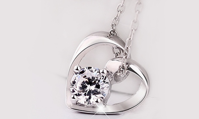 Groupon Goods: Heart Shaped Silver Plated Necklace for R199 Including Delivery (50% Off)