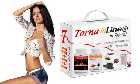 Fino a 3 kit dieta dimagrante 7 giorni Lineadiet con bevande proteiche e integratori per ridurre l'assunzione di grassi