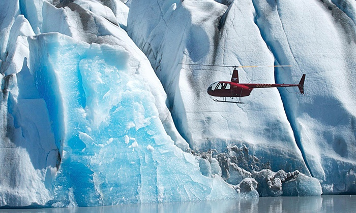 Knik River Lodge - Knik Glacier, AK: $335 for a Helicopter Flight with Glacier Landing for Two People from Knik River Lodge ($670 Value)