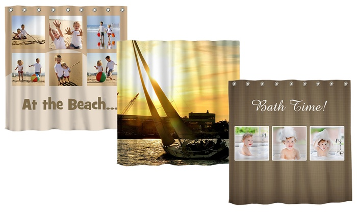 68x71 Custom Photo Shower Curtain From MailPix
