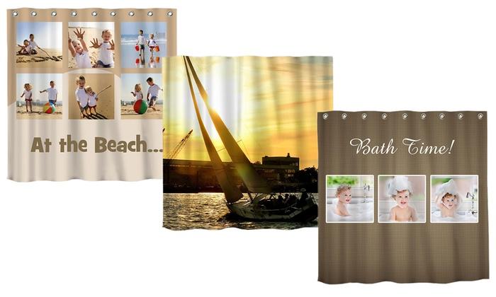 68x71 Custom Photo Shower Curtain From