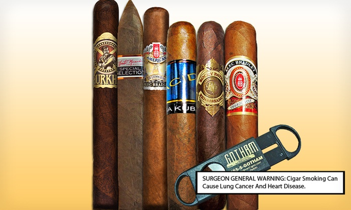 Premium Sampler from Gotham Cigars: $29 for a December Premium Sampler with Cutter from Gotham Cigars ($60.45 List Price). Free Shipping.