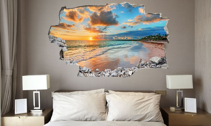 Vinyl 3d bed headboard groupon goods - Tavole adesive 3d per pareti ...