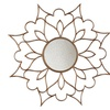 Decorative Petal Mirror with Antique Finish