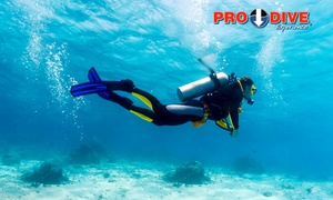 Pro Dive: Open Water Dive Course on a Weekday ($199) or Weekend ($249) with Pro Dive, Three Locations (Up to $399 Value)