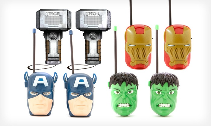 for marvel avengers walkie talkies groupon. Black Bedroom Furniture Sets. Home Design Ideas