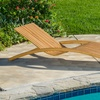 Shannon Outdoor Folding Wooden Chaise Lounge